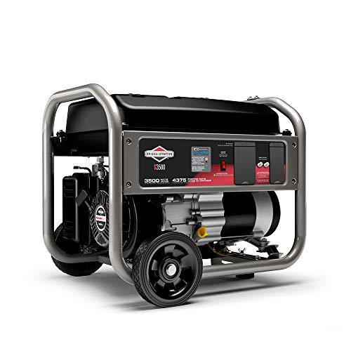 Briggs & Stratton S3500 3500W Portable Generator with CO Guard and RV Outlet, Powered by Briggs & Stratton, 030736