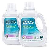 ECOS 2x Hypoallergenic Liquid Laundry Detergent, Lavender, 200 loads,...