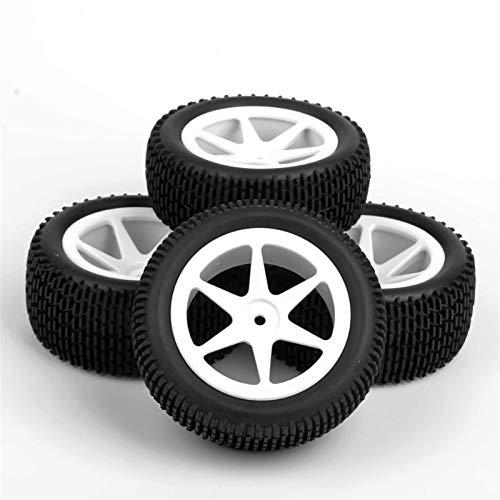 Modelo de neumático de coche Neumáticos 4pcs / Set parte posterior del frente de neumáticos de caucho y llantas con 12 mm Hex encajan Escala 1:10 RC Off-Road Buggy Car Model Accesorios Juguetes para n
