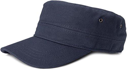 styleBREAKER Cap im Military-Stil aus robustem Baumwoll Canvas, verstellbar, Unisex 04023020, Farbe:Navy