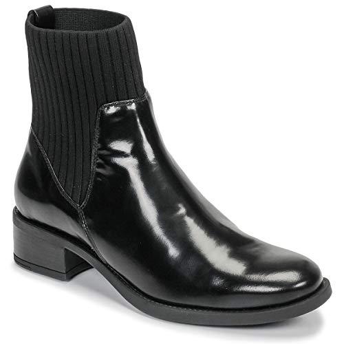 UNISA ELLEN Enkellaarzen/Low boots dames Zwart - 35 - Laarzen