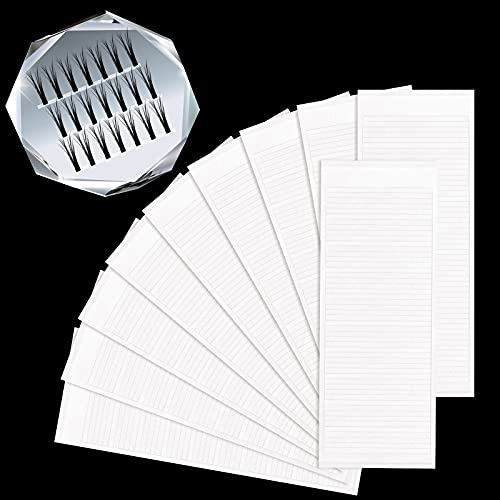 500 Pieces False Eyelash Fans Paper Tape Holder with Double...