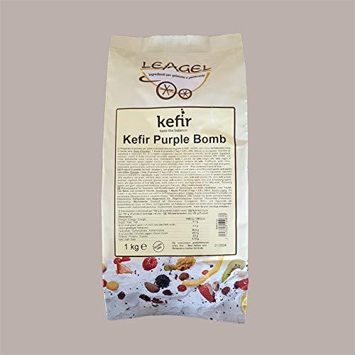 Leagel 1 kg Polvo concentrado preparado con sabor KEFIR Purple Bomb para helados, pasteles y postres
