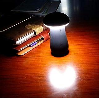 2 合 1 可爱小蘑菇 6000mAh 外置电池 LED 灯夜灯移动电源适用于 USB 端口手机和平板电脑4348717354 黑色