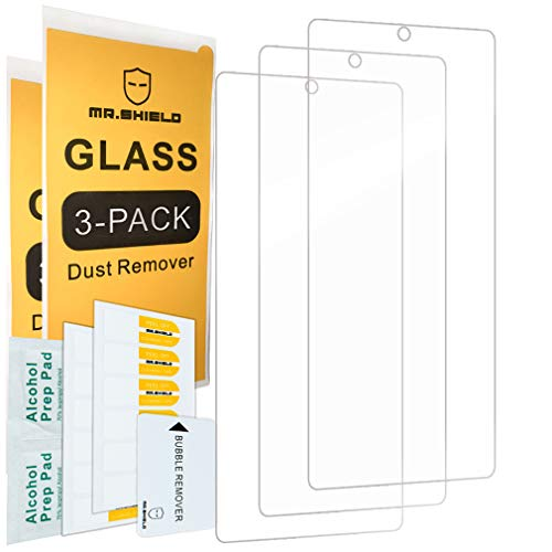 [3-Pack]-Mr.Shield Designed For Samsung Galaxy Note 20 [Tempered Glass] [Japan Glass with 9H Hardness] Screen Protector with Lifetime Replacement