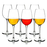 MICHLEY Irrompible Copas de Vino Tinto, 100% Tritan-plástico Copas Vino Cristal, 355 ML BPA y EA Gratis Vaso de Vino Conjunto de 6