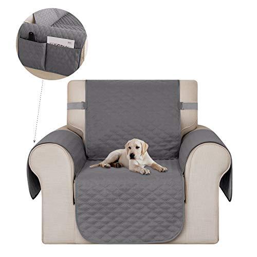 Deconovo Sofabezug Sofaüberwurf Sofahusse Wohnzimmer Sesselbezug Sofaläufer 54x190 cm Hellgrau 1-Sitzer