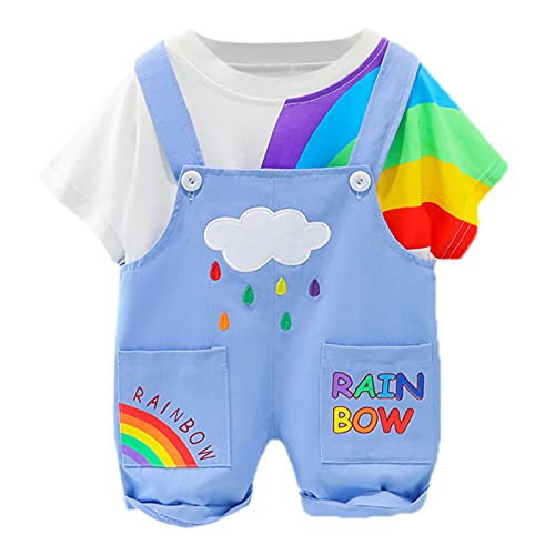Keepwin Conjunto Primera Puesta Bebe Ropita para Recien Nacido Ropa de Bebe Nino de 0 a 6 Meses Verano Trajes para Bebes Recien Nacidos Niña Ranitas para Bebe Niño Camiseta de Manga Corta Tops