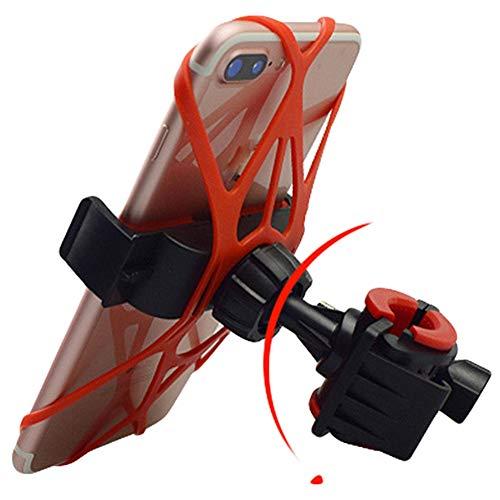 SJMLP Handyhalter Universal Bike Lenker Rack Multifunktionale Rennrad Halter In Kleinkasten MTB Motorrad Silicon Unterstützung Für Handy, Rot