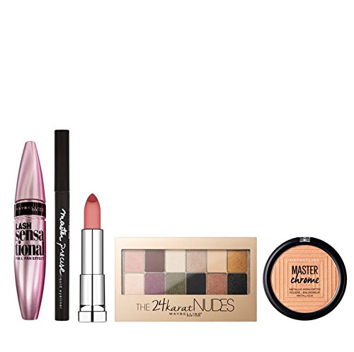 Maybelline Glow All Night 6-Piece Make Up Gift Set for Her