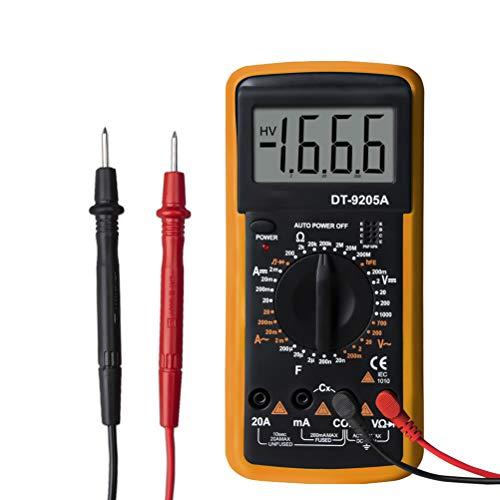 clifcragrocL Digital-Multimeter DT9205A LCD AC/DC-Amperemeter Widerstand Kapazität Tester Digital-Multimeter