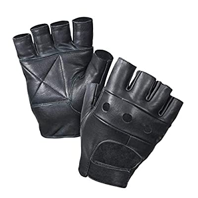 Leather Fingerless Gloves, Halloween Special (Black)