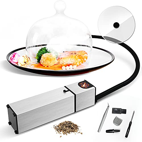 Smoking Gun Cocktail Smoker Food Smoker for Sous Vide Meat Veggies Drinks Cheese, 6 Flavors Wood Chips Included