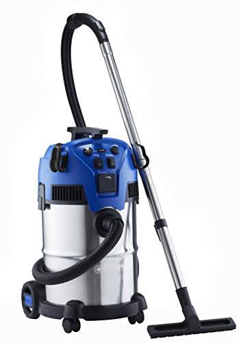 Nilfisk Multi II 30 T INOX VSC Nass-/Trockensauger, für die Reinigung im Innen- & Außenbereich, 30 Liter Fassungsvermögen, 1400 W Eingangsleistung, 230 V (blau)