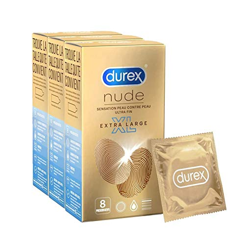 Durex Nude - Preservativos XL ExtraFinos - 24 Unidades
