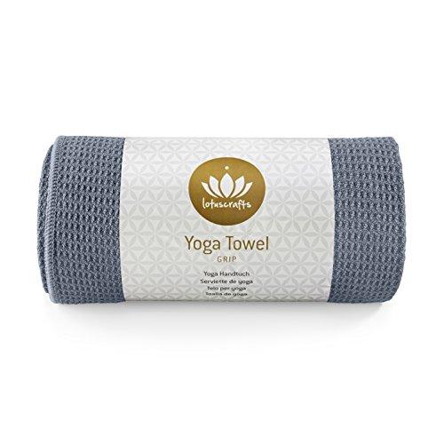 Lotuscrafts Yoga Handdoek Wet Grip - antislip & sneldrogend - slipvrije yogahanddoek met sterke grip - yogadoek ideaal voor Hot Yoga [183 x 61 cm].