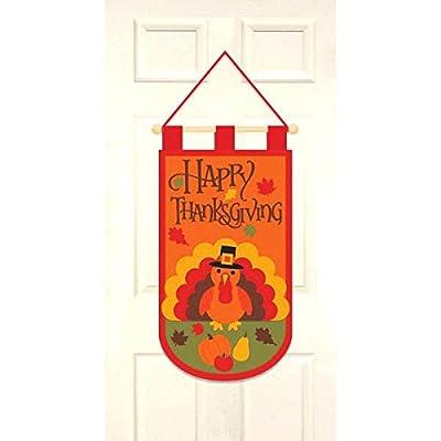 amscan Thanksgiving Felt Door Banner   Party Accessory