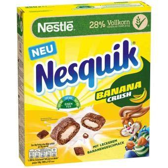 Nestlé NESQUIK BananaCrush Frühstücks-Cerealien (28% Vollkornweizen), 350 g