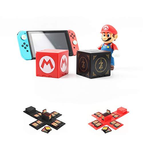 Nintendo Switch - Funda para tarjetas de juego para Nintendo Switch con 16 ranuras (Mario + Zelda)