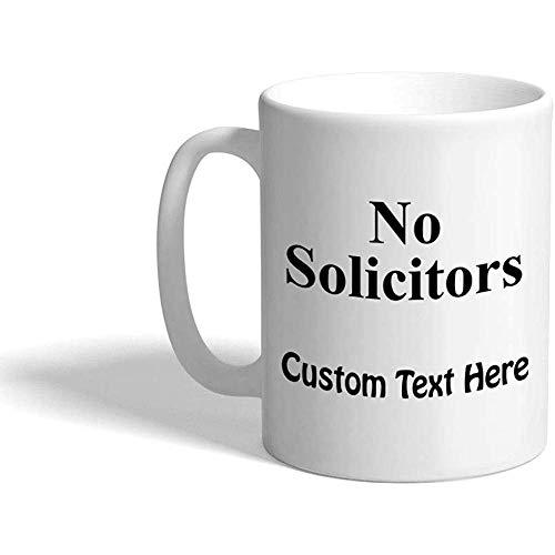 Taza de café personalizada 330 ml Ningún abogado de negocios Taza de té de cerámica Texto personalizado