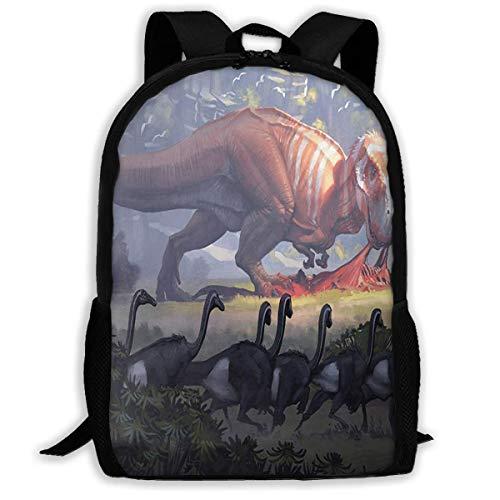 TTmom Schulrucksack,Schüler Bag,Rucksack Damen Herren Backpack Dinosaurs Tree Zipper School Bookbag Daypack Travel Rucksack Gym Bag for Man Women