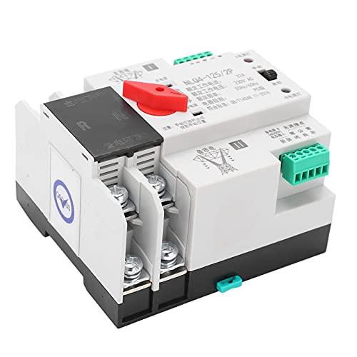 Interruptor de Transferencia automática, Interruptor de Transferencia automática de Carril DIN 230V 2P, Control de distribución ininterrumpida de energía 2P(40A)