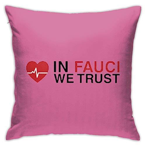 v-kook-v in Fauci We Trust - Funda de almohada para sofá o dormitorio (45 cm, 45 cm)