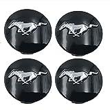 4Er-Set 68Mm Rad Mitte Naben Kappen Emblem, Rad Mitte Kappen Aufkleber Logo Abzeichen Radzierblende Für F-ord Mustang,Silber