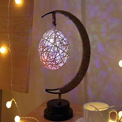 LED geometrie 's nachts de lamp, ophanging, handgemaakt, henneptouw, decoratieve verlichting voor kinderen, kerstdecoratie