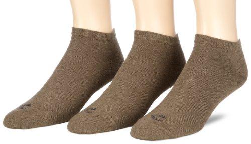 camel active Herren Sneakersocke 3 er Pack 6595 basic cotton sneaker 3 pack, Gr. 43-46, Braun (earth brown - 798)