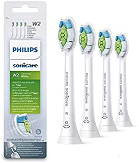 (正規品) フィリップス ソニッケアー 替ブラシ 電動歯ブラシ替えブラシ ステイン除去 レギュラーサイズ ホワイト 4本組 HX6064
