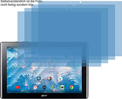 4ProTec I 4X Crystal Clear klar Schutzfolie für Acer Iconia One 10 B3-A40 Bildschirmschutzfolie Displayschutzfolie Schutzhülle Bildschirmschutz Bildschirmfolie Folie