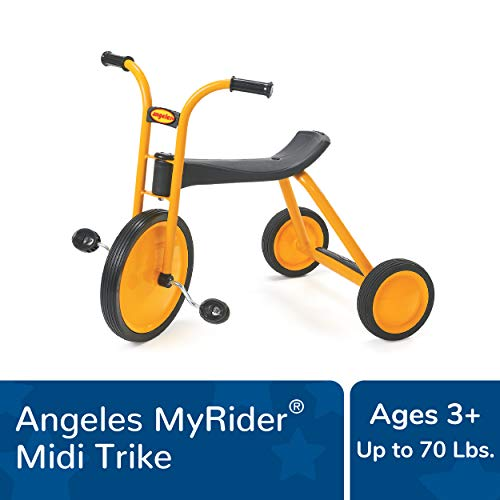 Angeles MyRider Midi Trike Bike, Yellow – Perfect for Beginning Riders Ages 3+, Encourages Active Play, Supports Up to 70lbs., Durable Design, Built-In Safety Features, Comfortable Ride, Solid Tires