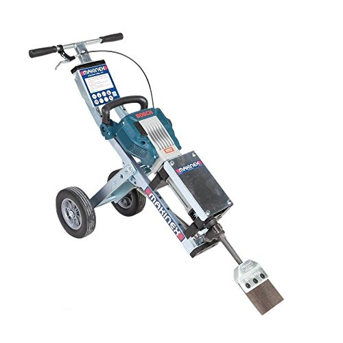 "Makinex JHT-U Complete Universal Jackhammer Trolley, Zinc Coated Frame, Anti-Vibration Ergonomic Design, Large Wheels, 60.6 lb, 3' 3"" X 1' 3"" X 12"""