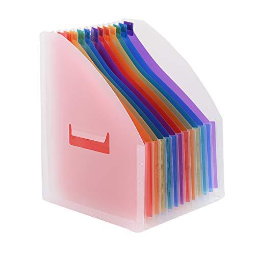 Vertical Carpeta de Archivos de Escritorio Mesa con 13 Bolsillos Coloridos,UBAYMAX 12 Meses Tab Ampliando Clasificador de Archivo,Archivadora Documento de Letra Per Oficina/Escuela