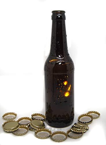 Set 16 Botellas y 100 Chapas Para Elaborar Cerveza En