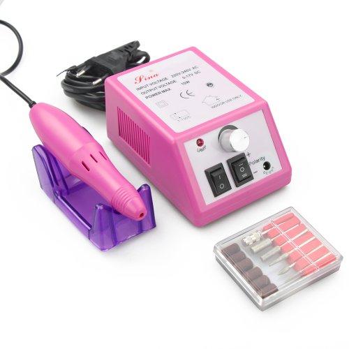 FLY-Shop - ZS-210 Nouvelle Mode Modèle Ponceuse Manicure Ongle Professional électrique Nail Système de Classement, Electric Nail Drill 10W UE (Rose Et Blanc) (Rose)