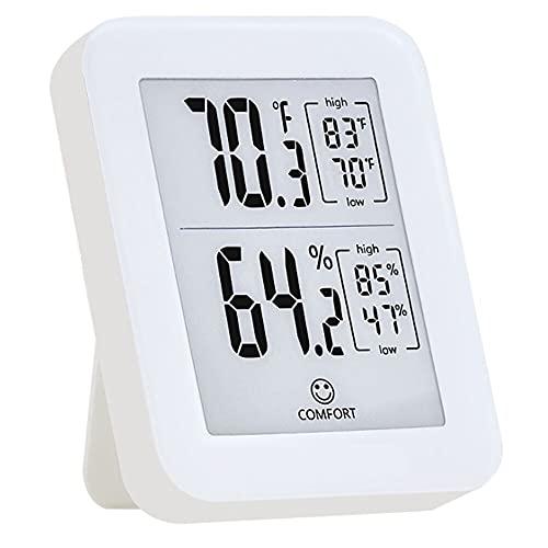 デジタル温度湿度計、屋内屋外温度計湿度モニター、バックライト360°HD電子インクスクリーン付き、ガレージ温室ワインセラー用の高精度のゲージ工業用グレードセンサーを内蔵
