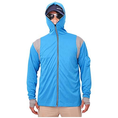 Windbreaker Herren Long Sleeves Tops Hoodie Sweatshirts Angelanzug Reißverschluss Bluse Hoodie