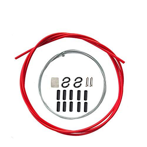 AKANTOR Cable universal para cambio de bicicleta (carcasa y cables) para repuesto de bicicleta MTB (rojo)