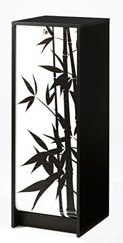 SIMMOB Classeur à Rideau Noir Hauteur 104 cm Bambous, Bois