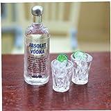 Yoyakie 8pcs Casa Juguetes Miniatura Botellas De Licor Conjunto Divertido Mini Resina Vodka Global Beber Licor Shots Botella Kit Botellas Vacías De Alcohol Shot