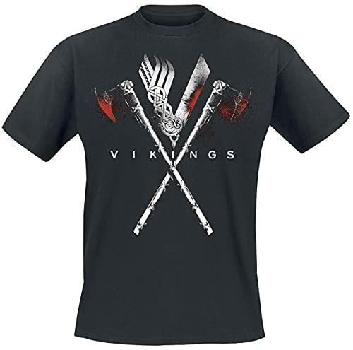 Vikings Axe To Grind Hombre Camiseta Negro M, 100% algodón,...