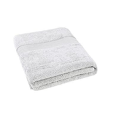 Bliss Luxury Combed Cotton Bath Towel - 34  x 56  Extra Large Premium Quality Bath Sheet - 650 GSM - Soft, Absorbent (White, 1 Pack)