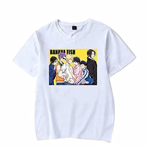 Banana Fish Ash Lynx Camiseta de Manga Corta para Hombres y Mujeres Banana Fish de Manga Corta Unisex