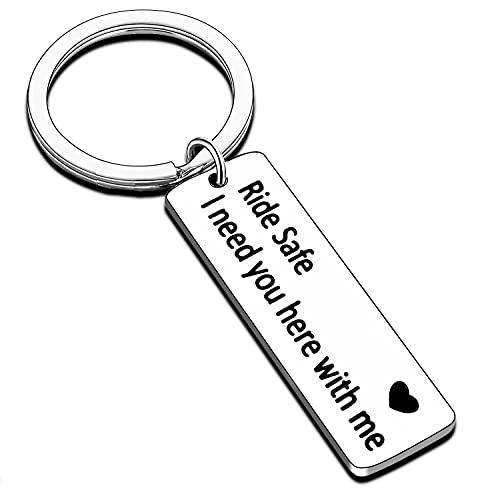 Drive Safe Keychain I Need You Here with Me Handsome Husband Boyfriend Gift Trucker New Driver Gift (Ride Safe)