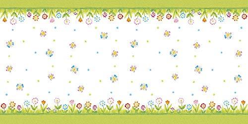 Mank Airlaid Tischläufer 40 cm x 24 m | Tischdecken-Rolle stoffähnlich | praktische Einmal-Tischdecke für Hochzeit oder Partys | Frühling | Sommer | Insa