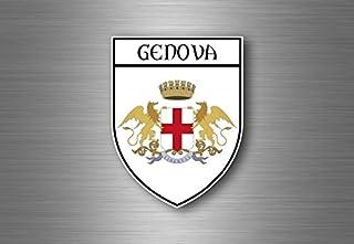 Akacha Sticker Adesivi Adesivo Stemma Etichetta Bandiera Auto Genova Italia