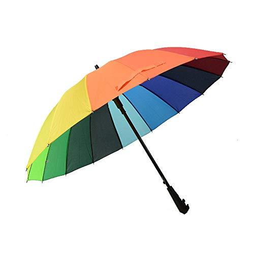 Rainbow Umbrella Gerader Regenschirm Versicherung, Werbegeschenke Regenschirm 16 Knochen,550