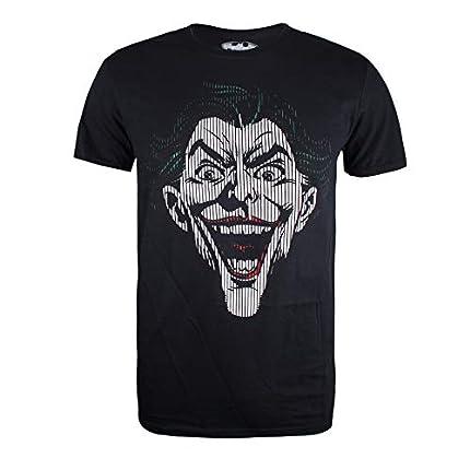 DC Comics Joker Lines Camiseta para Hombre Negro